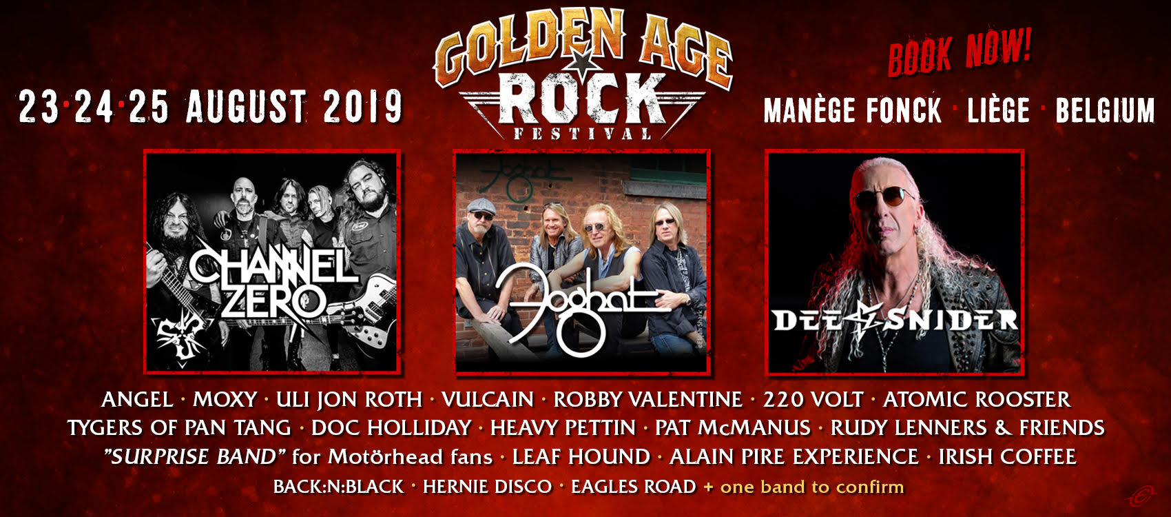 Golden Age Rock Festival 23-24-25 August 2019