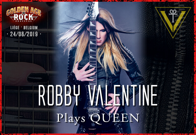 Robby Valentine plays Queen